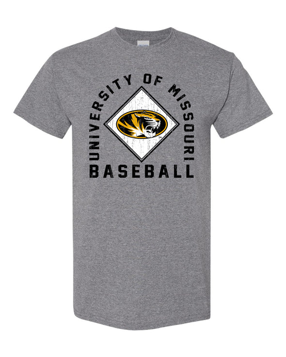 Mizzou Baseball 2020 Arched Square Grey T-Shirt