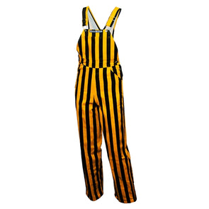 Mizzou Black and Gold Stripe Bib Overalls