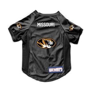 Missouri Mizzou Oval Tiger Head Black Pet Jeresey