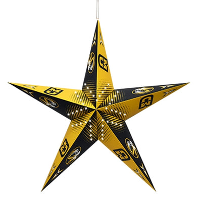 Mizzou Black and Gold Star Lantern