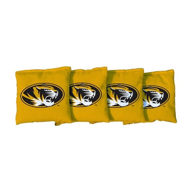 Mizzou Oval Tiger Head Set of 4 Refill Bean Bag Gold