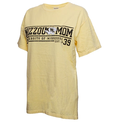 Mizzou Mom Tiger Head University of Missouri 1839 Yellow T-Shirt
