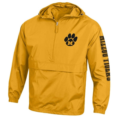 Mizzou Tigers Tiger Paw M Champion Gold 1/2 Zip Jacket