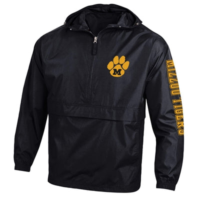 Mizzou Tigers Tiger Paw M Champion Black 1/2 Zip Jacket