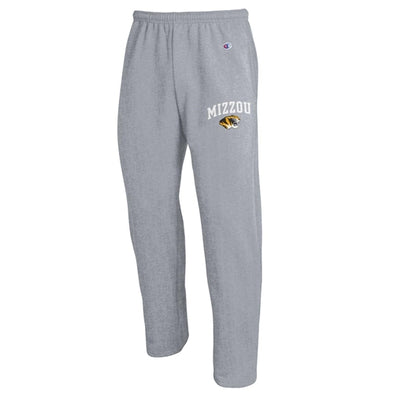 Mizzou Tiger Head Champion Grey Sweatpants