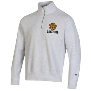 Mizzou Beanie Tiger Champion Of White 1/4 Zip Sweatshirt