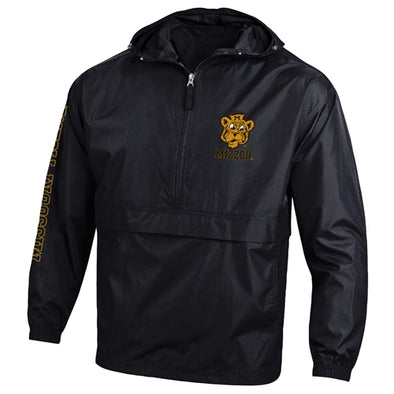 Mizzou Beanie Tiger Champion Black Packable Jacket