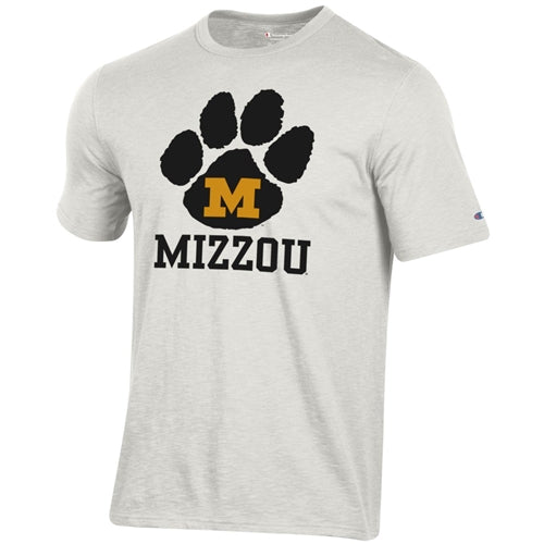 Mizzou M Pawprint Champion White T-Shirt