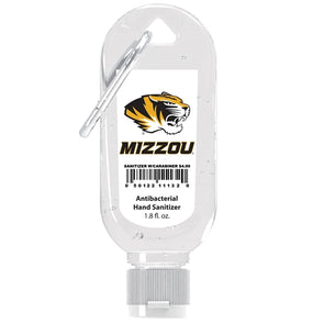 Mizzou Tiger Head Hand Sanitizer with Carabiner