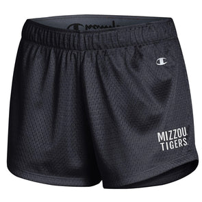 Mizzou Tigers Champion Black Mesh Shorts