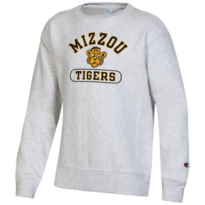 Mizzou Tigers Beanie Tiger Champion Youth Off White Sweatshirt