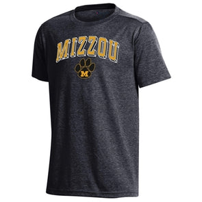 Mizzou M Paw Champion Youth Black T-Shirt