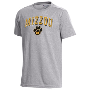 Mizzou M Paw Champion Youth Grey T-Shirt