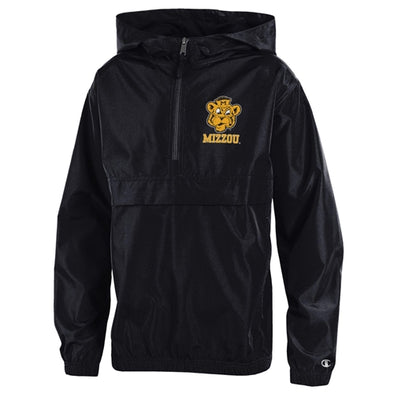 Mizzou Beanie Tiger Champion Youth Black Packable Jacket
