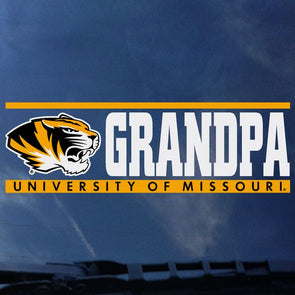 Mizzou Tiger Head University of Missouri Grandpa Decal