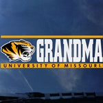 Mizzou Tiger Head University of Missouri Grandma Decal
