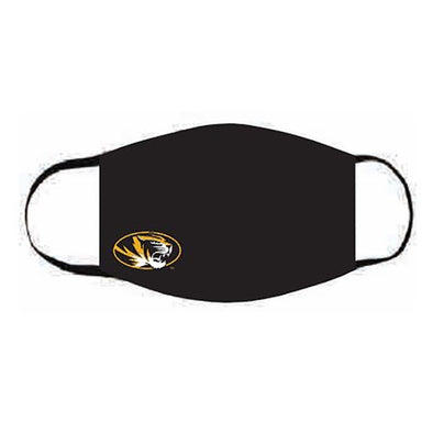 Mizzou Oval Tiger Head Black Face Mask