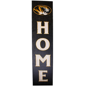 Mizzou Oval Tiger Head Home Birch Leaner Sign