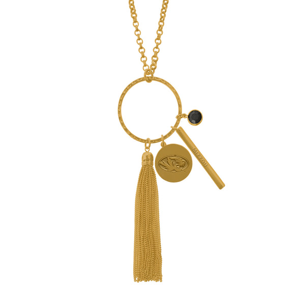 Mizzou Multi Charm Gold Necklace