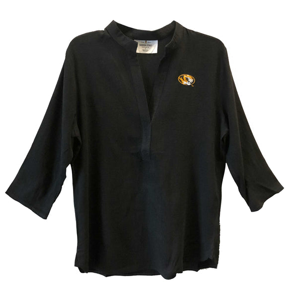 Mizzou Black Oval Tiger Head Tunic