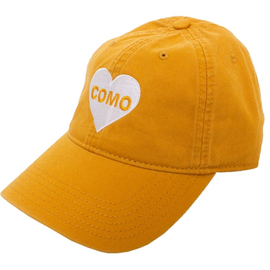 Mizzou CoMo Heart Old Gold Adjustable Hat