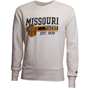 Missouri Tigers Est 1839 Beanie Tiger Champion White Sweatshirt