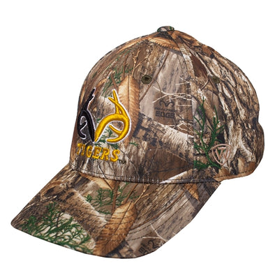 Mizzou Oval Tiger Head Antlers Camoflauge Brown One Fit Hat