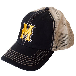 Mizzou Scalloped M Black and Tan Trucker Hat