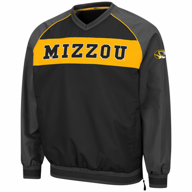 Mizzou Tigers Colosseum Tiger Head Black Windbreaker Jacket