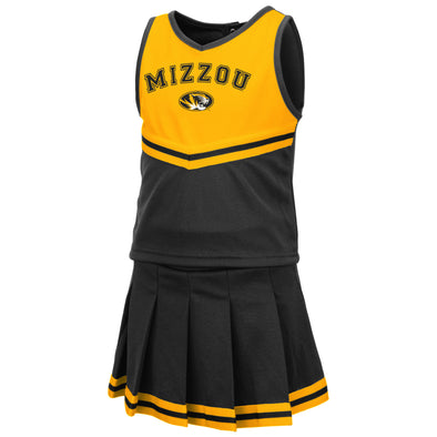 Mizzou Colosseum Oval Tiger Head Toddler Cheerleader Set