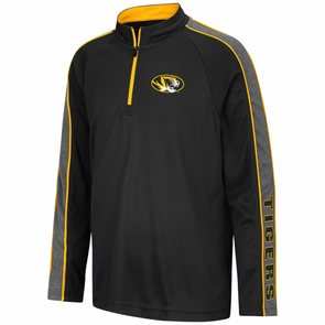 Mizzou Youth Colosseum Oval Tiger Head 1/4 Zip Long Sleeve