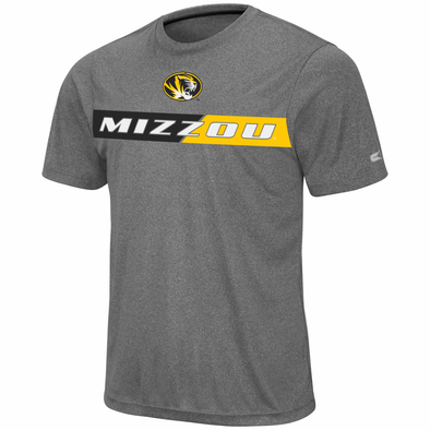 Mizzou Colosseum Oval Tiger Head Grey T-Shirt