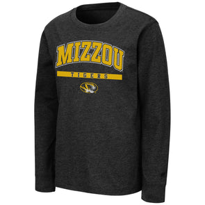 Mizzou Colosseum Youth Black Long Sleeve T-Shirt