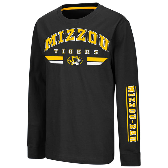 Mizzou Colosseum Youth Long Sleeve Black T-Shirt