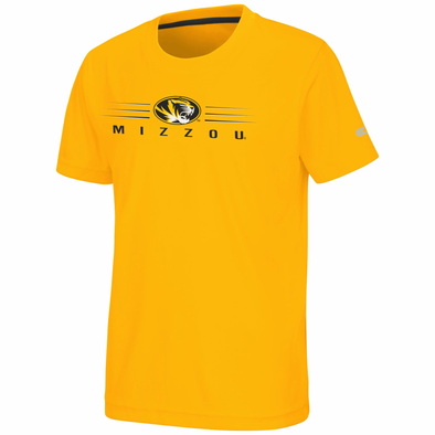 Mizzou Colosseum Youth Gold Oval Tiger Head T-Shirt