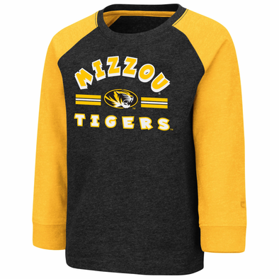 Mizzou Colosseum Youth Black and Gold Long Sleeve T-Shirt