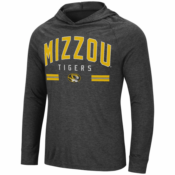 Mizzou Colosseum Long Sleeve Black Hooded T-Shirt