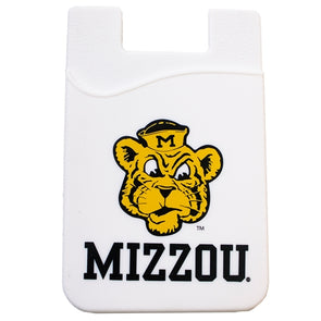 Mizzou Beanie Truman Tiger White Silicone ID Holder