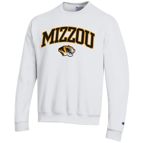 Mizzou Tiger Head Champion White Sweatshirt