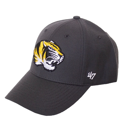 Mizzou Tiger Head Dark Grey Adjustable Hat