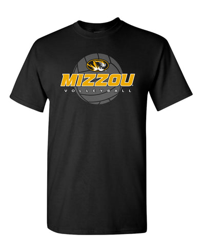 Mizzou Volleyball Black Crew Neck T-Shirt