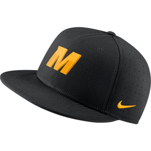 Mizzou Nike® 2021 On the Field Replica Fitted Baseball Black Hat Gold M