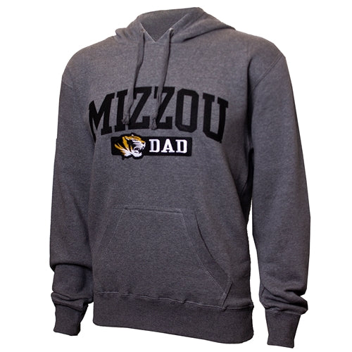 Mizzou Dad Tiger Head Grey Hoodie
