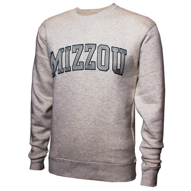 Mizzou Off White Herringbone Crew Sweatshirt