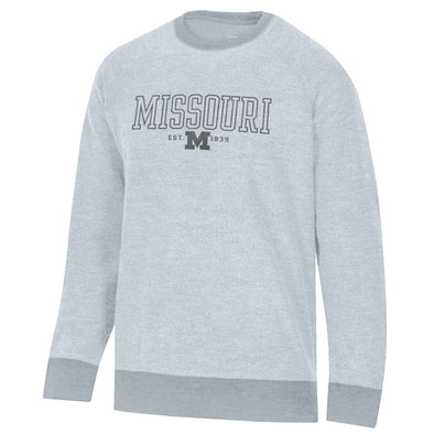 Missouri M Inside Out Grey Crew Sweatshirt