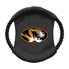 Mizzou Oval Tiger Head  Flying Disc Pet Toy