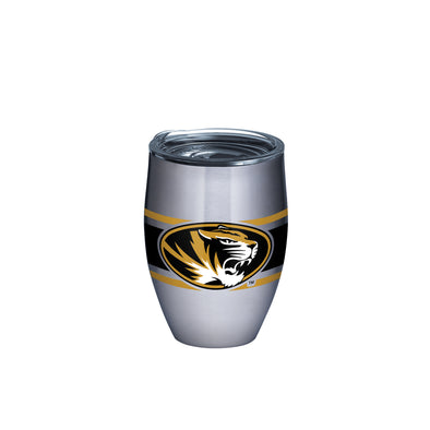 Mizzou Oval Tiger Head Stripes Stainless Steel Tervis Tumbler