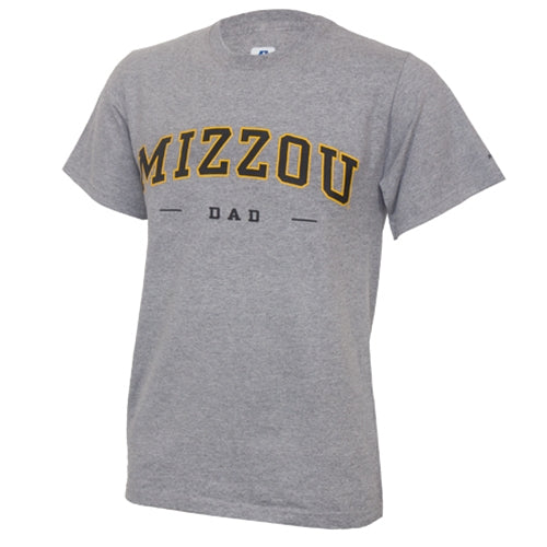 Mizzou Dad Grey Crew Neck T-Shirt