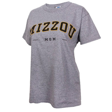 Mizzou Mom Grey Crew Neck T-Shirt