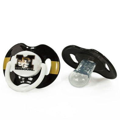 Missouri Tiger Head Black & Gold Pacifier Set